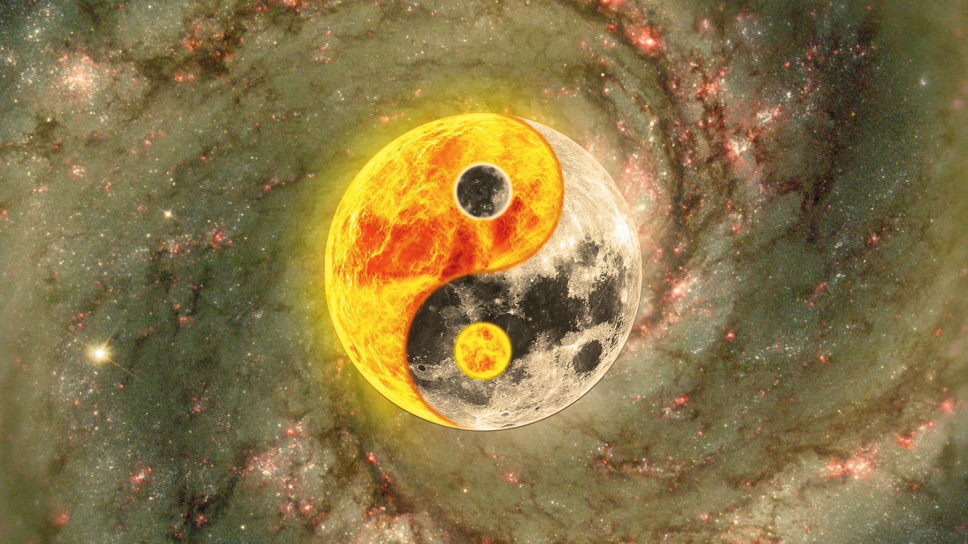 Yin Yang - Tao Galaxy - Dao - Wallpaper